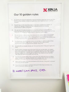 Xinja 10 golden rules