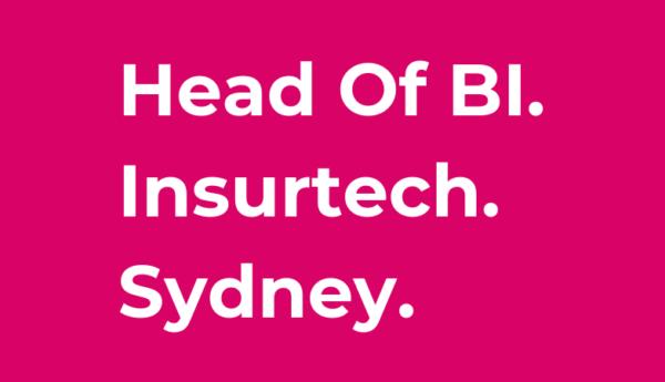 Tier One People Insurtech Jobs Sydney